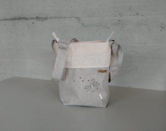 Tasche klein aus beschichteter Leine