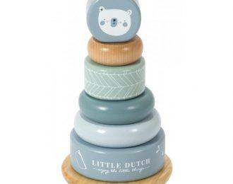 Little Dutch Ring-Stapelturm – personalisiert