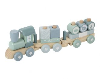 Little Dutch Holz Eisenbahn personalisiert mint