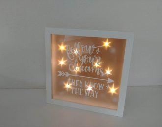 Leuchtrahmen personalisiert
