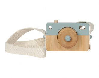 Little Dutch Holz Fotokamera blau – personalisiert
