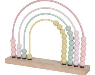 Little Dutch Motorik Regenbogen Abacus rosa – personalisiert