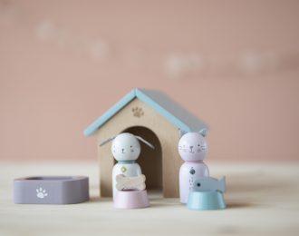 Puppenhaus Spielset Haustiere
